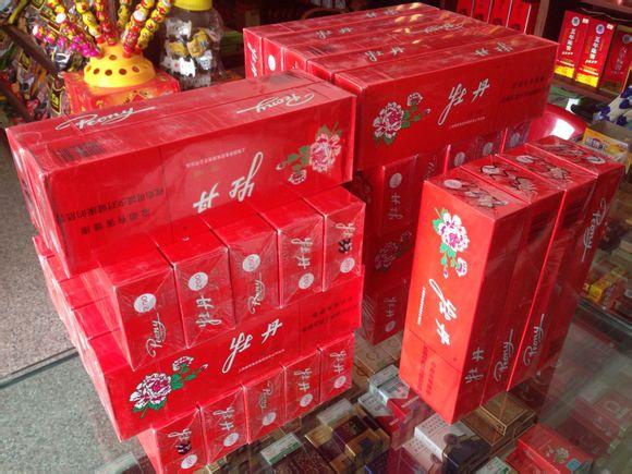 上海 紅牡丹,煙草
