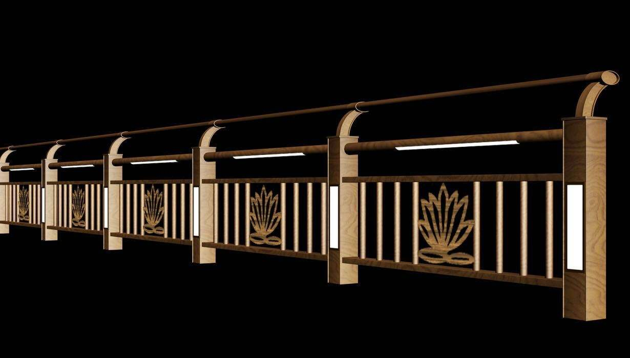 桥梁栏杆、灯光护栏